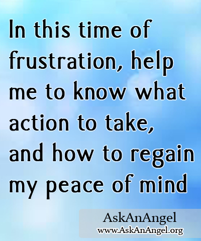 Time Of Frustration Wwwaskanangelorg
