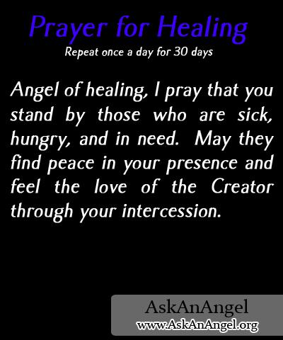 Prayer for Healing | www.AskAnAngel.org